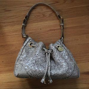 Gorgeous woven croc leather Brahmin Bag